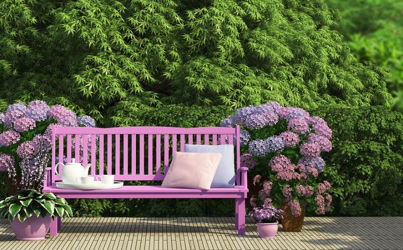 decorate a garden